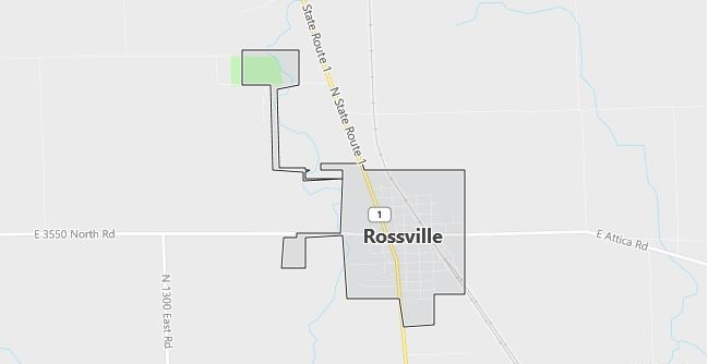 Map of Rossville, IL