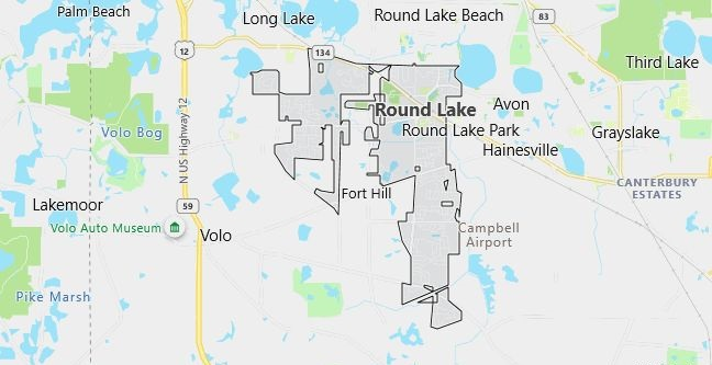 Map of Round Lake, IL