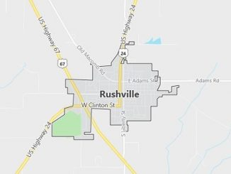 Map of Rushville, IL