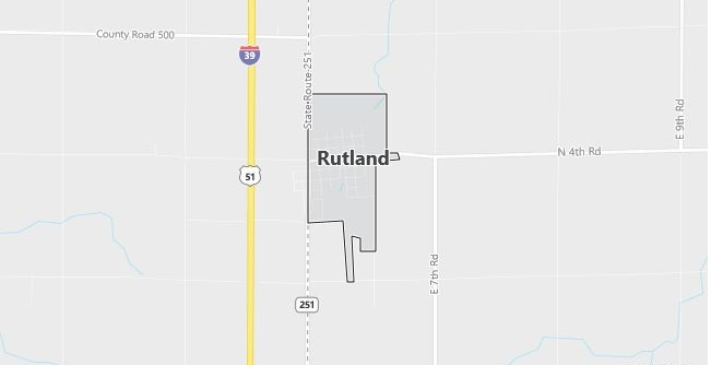 Map of Rutland, IL