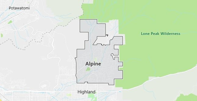Map of Alpine, UT