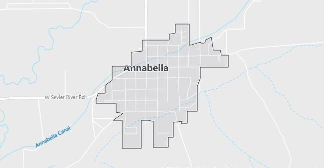 Map of Annabella, UT