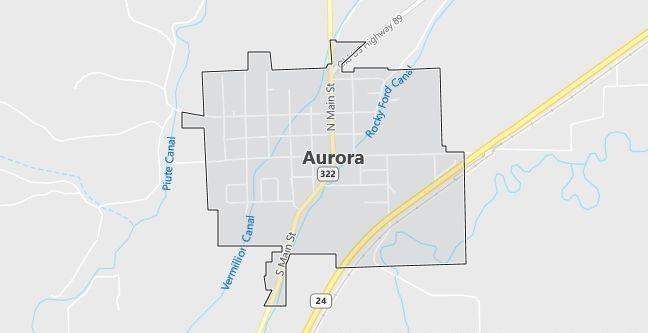 Map of Aurora, UT