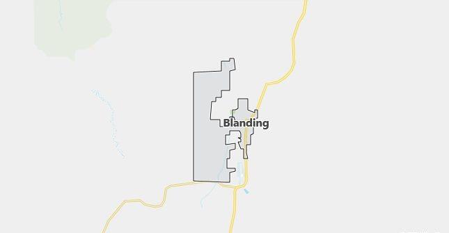 Map of Blanding, UT