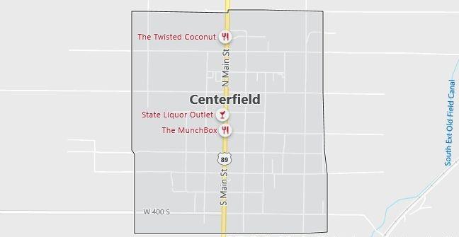 Map of Centerfield, UT