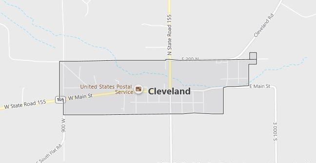 Map of Cleveland, UT