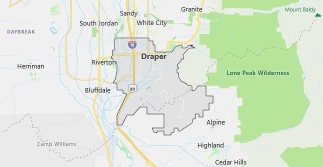 Map of Draper, UT