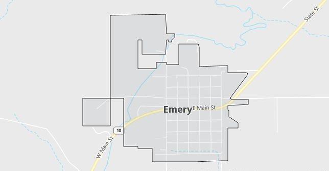 Map of Emery, UT
