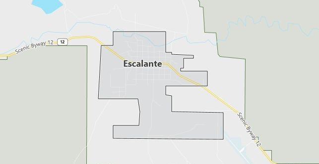 Map of Escalante, UT