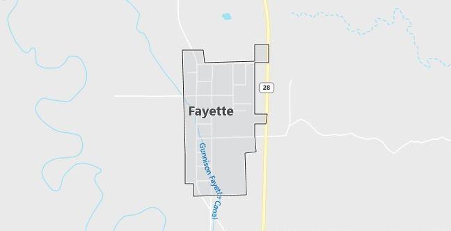 Map of Fayette, UT