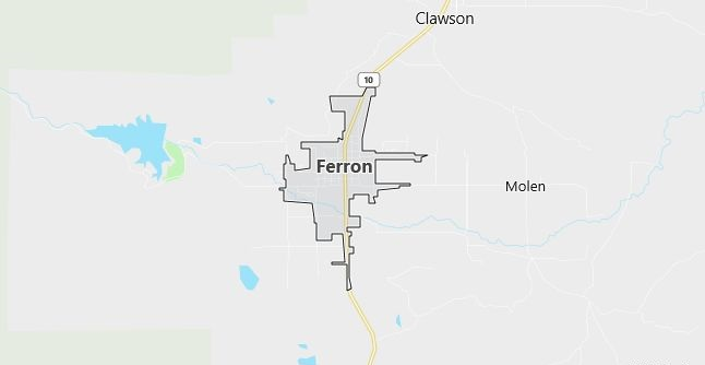 Map of Ferron, UT