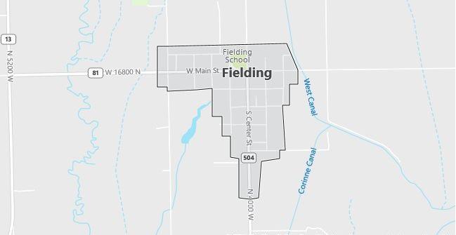 Map of Fielding, UT
