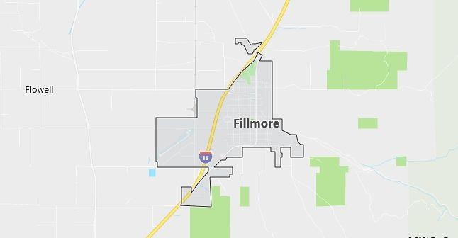 Map of Fillmore, UT