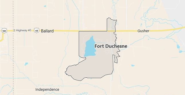 Map of Fort Duchesne, UT