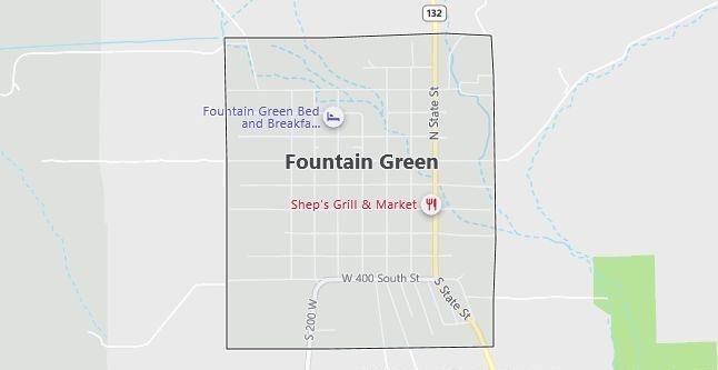 Map of Fountain Green, UT