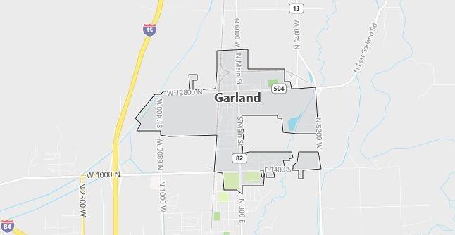 Map of Garland, UT