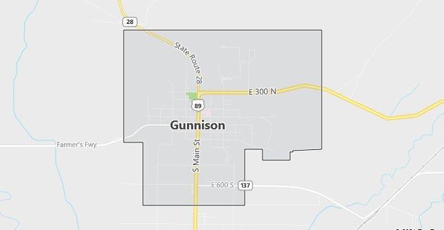 Map of Gunnison, UT