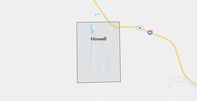 Map of Howell, UT
