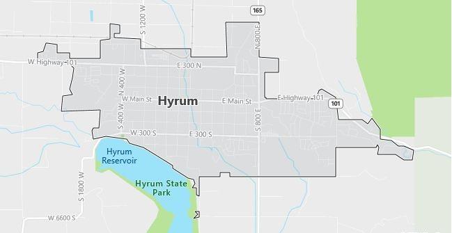 Map of Hyrum, UT