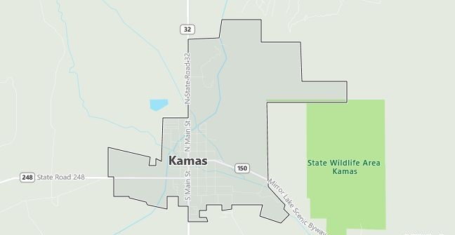 Map of Kamas, UT