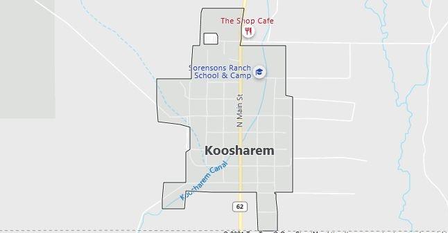 Map of Koosharem, UT