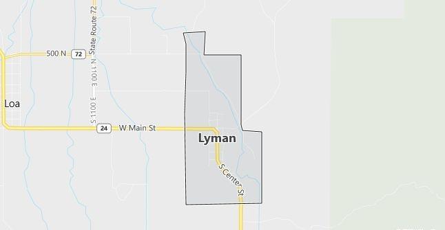 Map of Lyman, UT