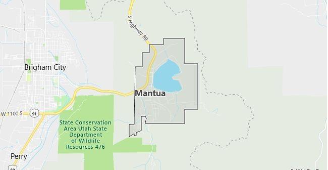 Map of Mantua, UT