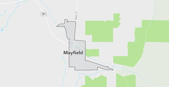 Map of Mayfield, UT