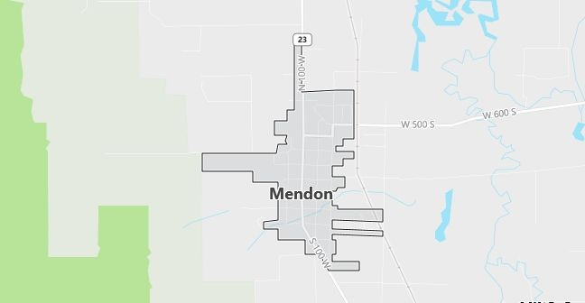 Map of Mendon, UT