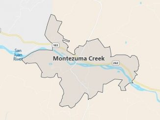 Map of Montezuma Creek, UT