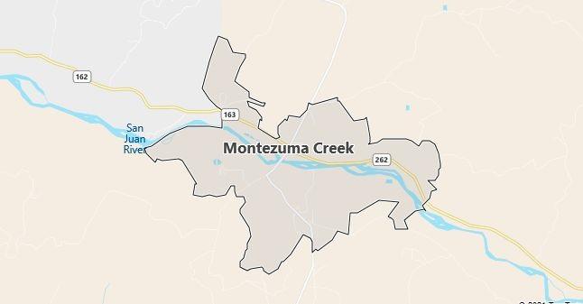 Map of Montezuma Creek, UT