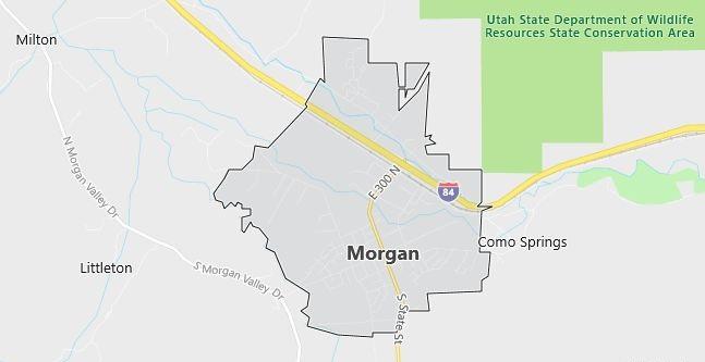 Map of Morgan, UT