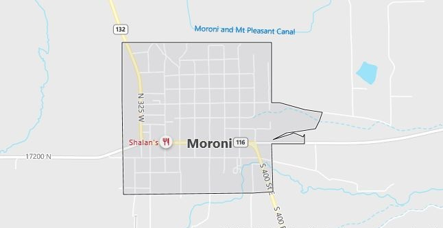Map of Moroni, UT