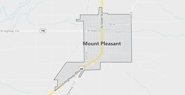 Map of Mount Pleasant, UT
