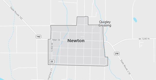 Map of Newton, UT