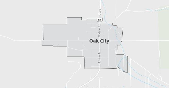 Map of Oak City, UT