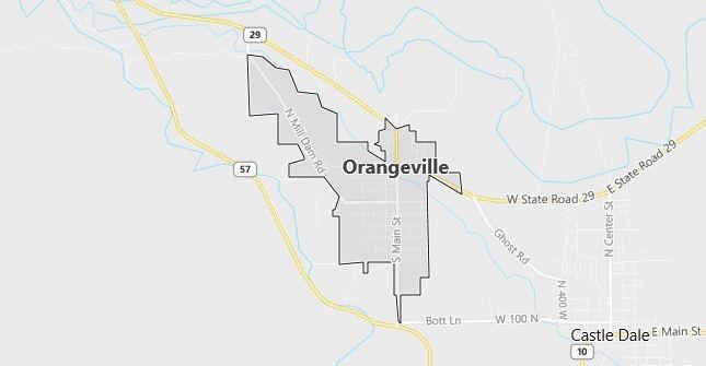Map of Orangeville, UT