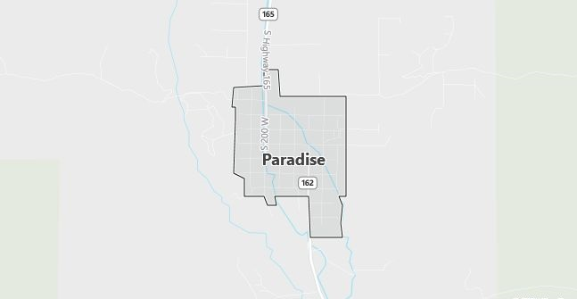 Map of Paradise, UT