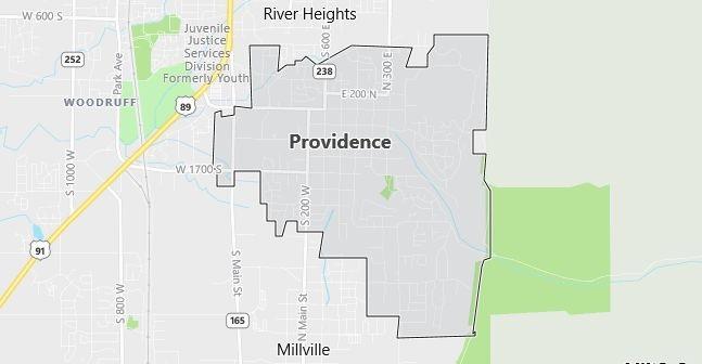 Map of Providence, UT