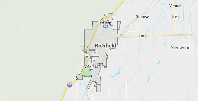 Map of Richfield, UT