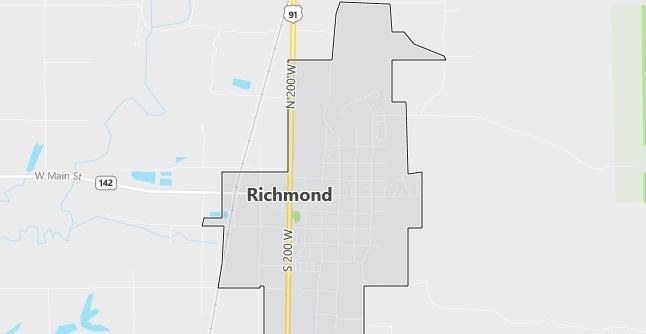 Map of Richmond, UT