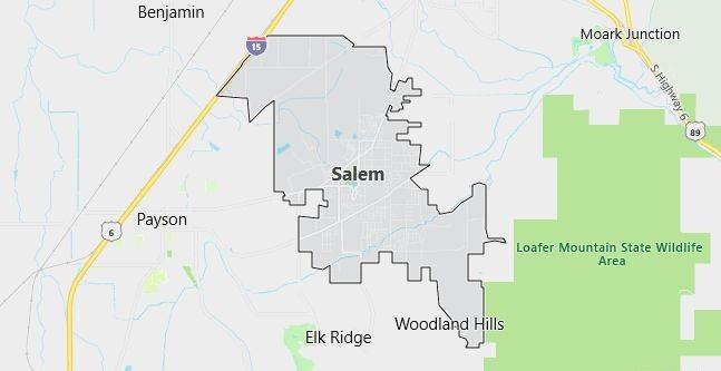 Map of Salem, UT