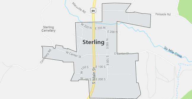 Map of Sterling, UT