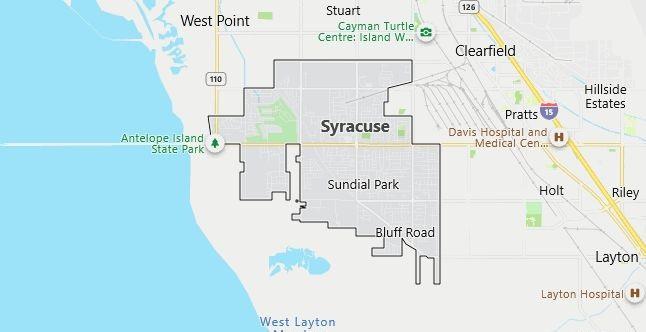 Map of Syracuse, UT