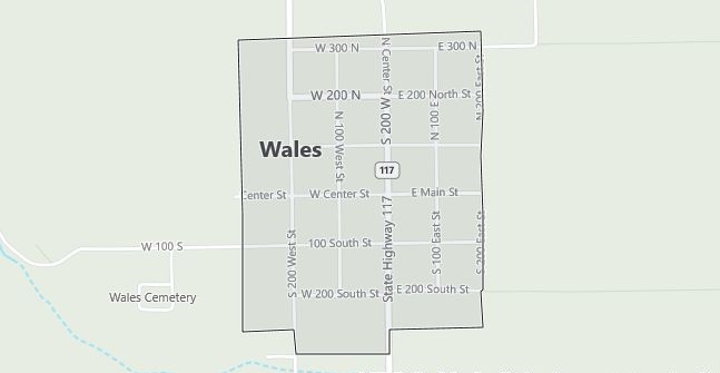 Map of Wales, UT