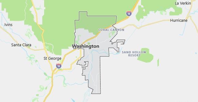 Map of Washington, UT
