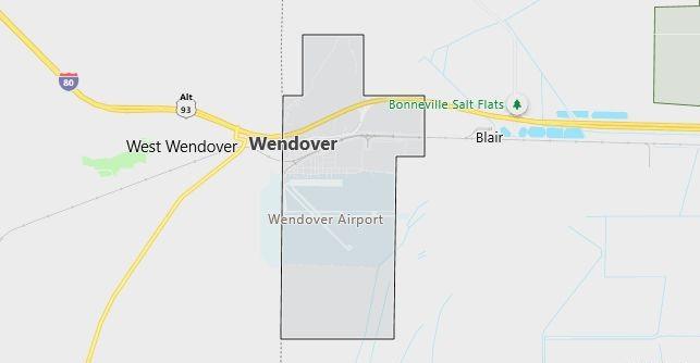 Map of Wendover, UT