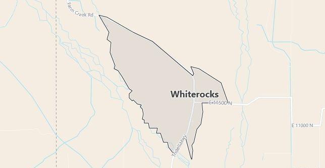 Map of Whiterocks, UT